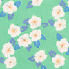 Hanatei Hibiscus Pocket Square - Summer Green Color Swatch Image