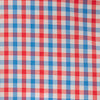 Leeway Gingham Intercoastal Performance Sport Shirt - Mango Color Swatch Image