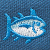 Men's Embroidered Skipjack Canvas Flipjacks - Seven Seas Blue Color Swatch Image