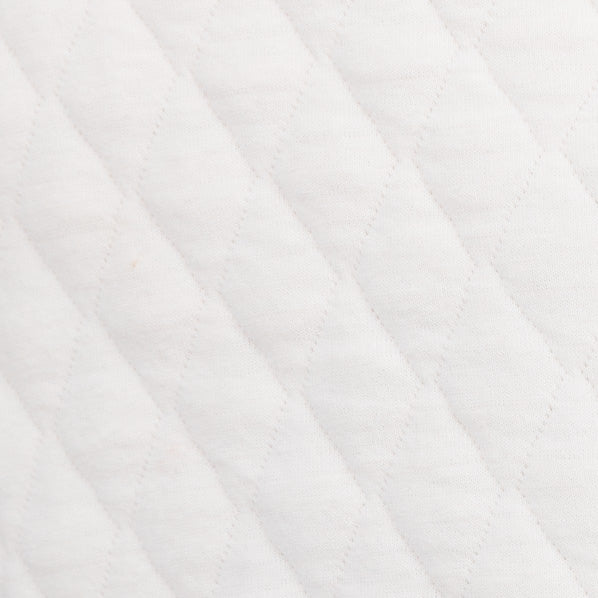 Quilted Pullover - White Alyssum Color Swatch Image