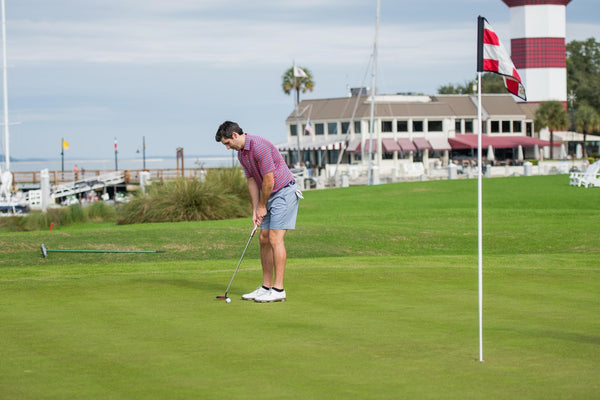 golfer on the RBC Heritage course at Sea Pines