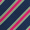 Society Stripe Tie - Yacht Blue Color Swatch Image