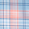 Surfscoter Plaid Sport Shirt - Sky Blue Color Swatch Image