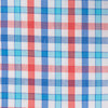 Coastal Passage Triple Gingham Sport Shirt - Roman Red Color Swatch Image