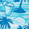 Tropic Like Its Hot Swim Trunk - Hull Blue Color Swatch Image