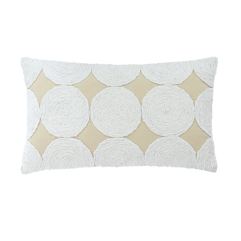 Southern Hospitality Circle Appliqué Breakfast Pillow | Southern Tide