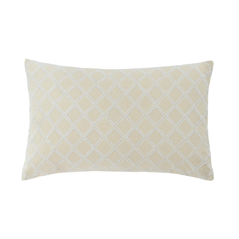 Southern Hospitality Embroidered Trellis Decorative Pillow