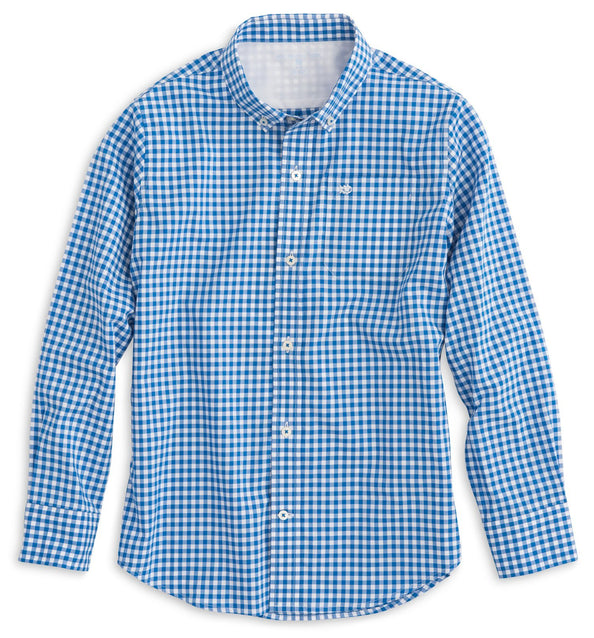 Image of Boys Gingham Sport Shirt