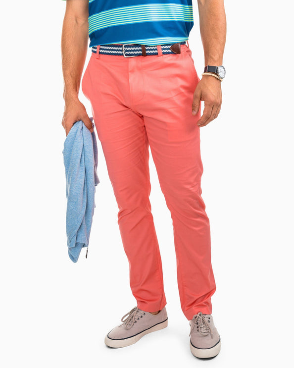 Channel Marker Chino Pant - Shell Pink