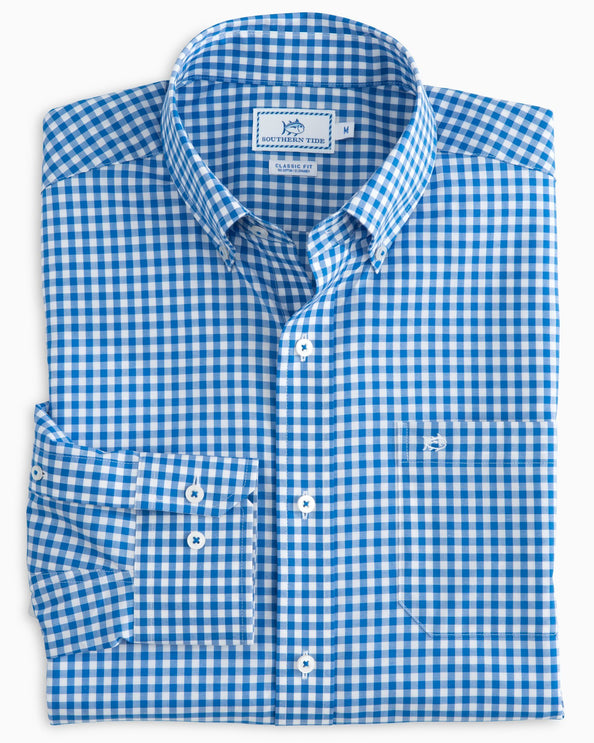 Classic Gingham Button Down Shirt