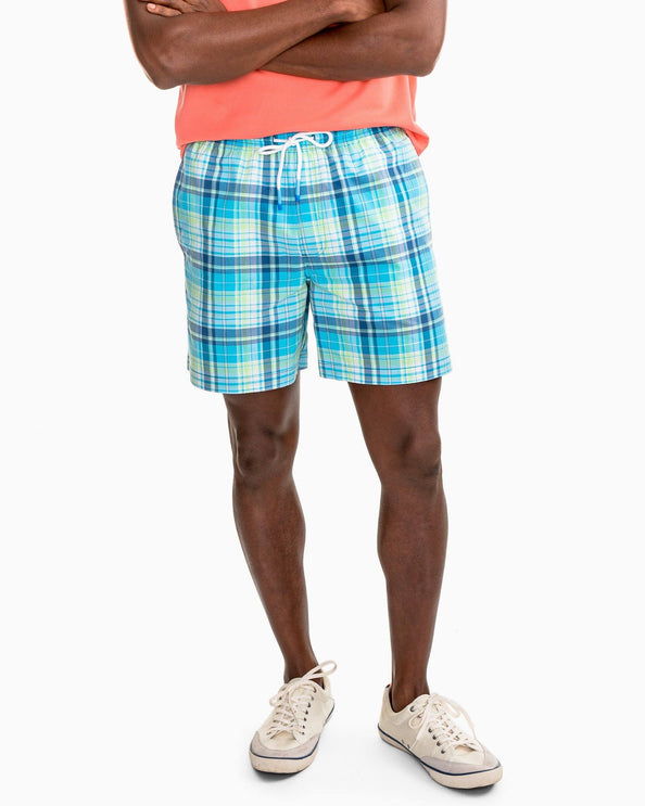 Image of Seacrest Plaid Swim Trunk