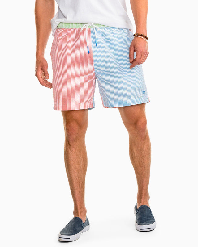 Party Seersucker Swim Trunk | Southern Tide