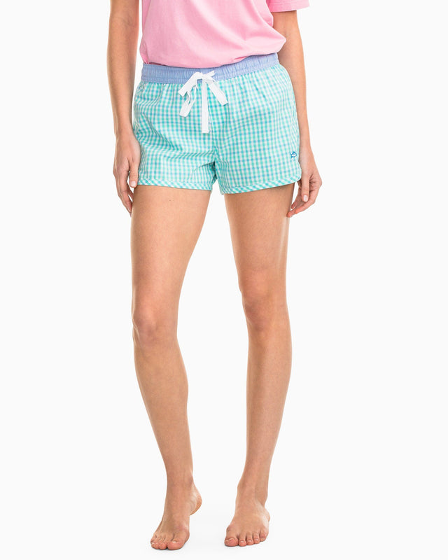 Two-Tone Gingham Lounge Short | Southern Tide
