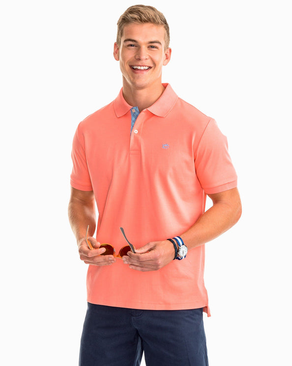Image of Sugar Mill Gingham Placket Polo
