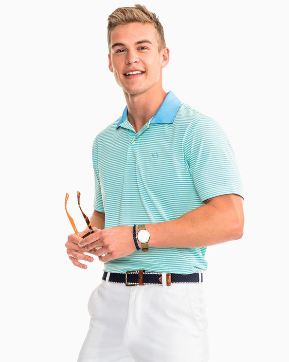 Image of Fort Charlotte Stripe Performance Polo