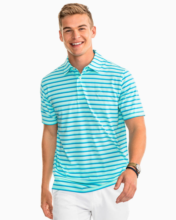Image of Summer Salt Stripe Performance Polo