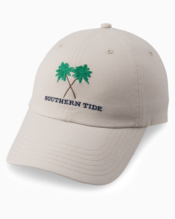 Image of Crossed Palms Embroidered Hat
