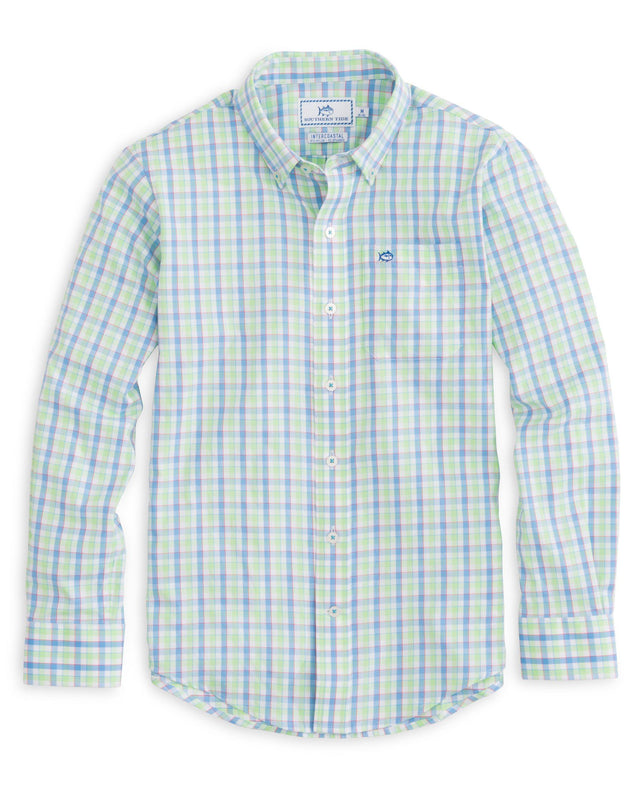 Boys Market Square Gingham Intercoastal Performance Shirt | Southern Tide