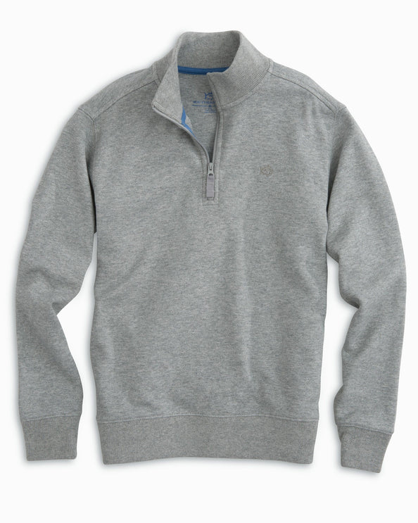 Boys' Heathered Skipjack Quarter Zip Pullover