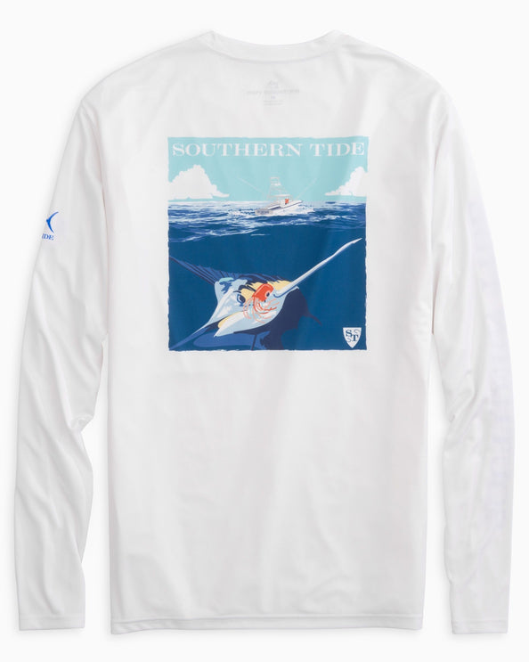 Image of Catch of the Day Marlin Long Sleeve Performance T-shirt
