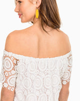 Isabel Grace Off The Shoulder Lace Dress | Southern Tide