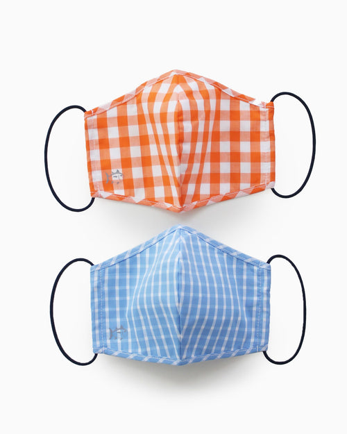 2-Pack Light Blue and Orange Masks