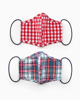 2-Pack Red Holiday Face Mask Cover | Southern Tide