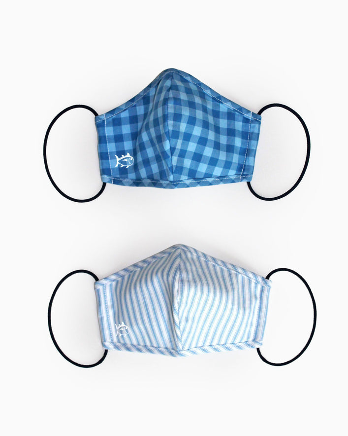 2-Pack Youth Blue Face Mask Cover