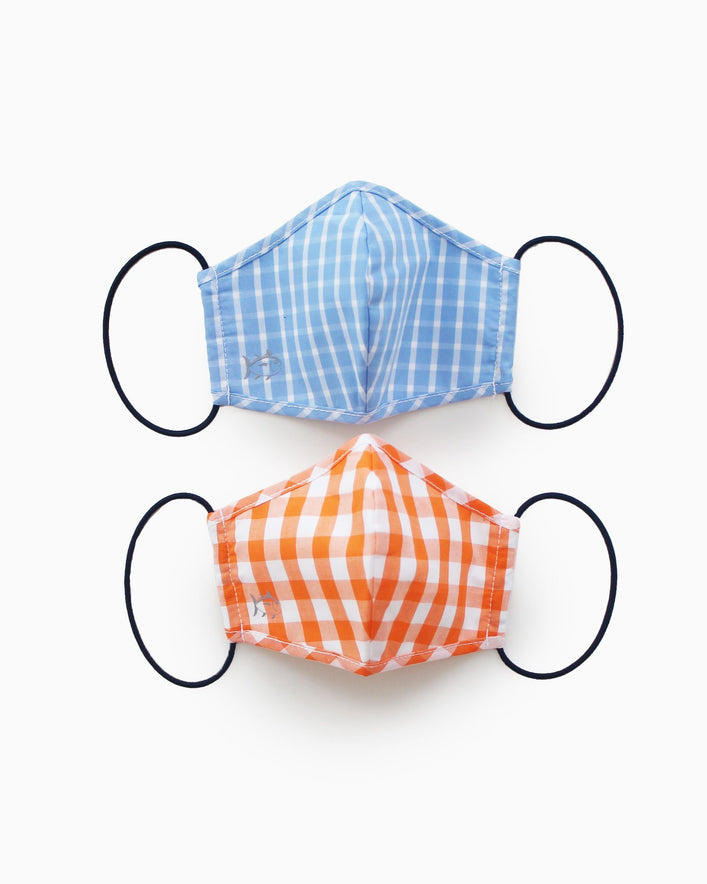 2-Pack Kids Light Blue and Orange Masks