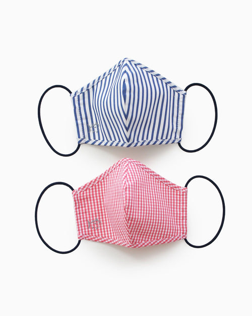 2-Pack Kids Navy and Red Masks | Southern Tide