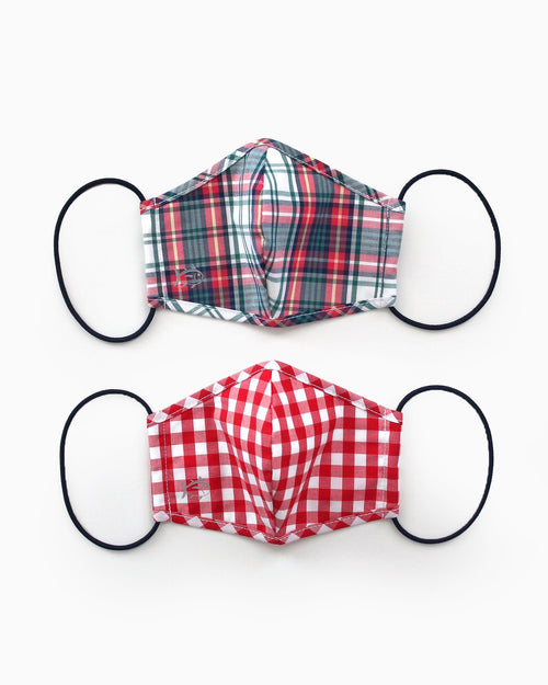 2-Pack Youth Red Holiday Mask Cover | Southern Tide