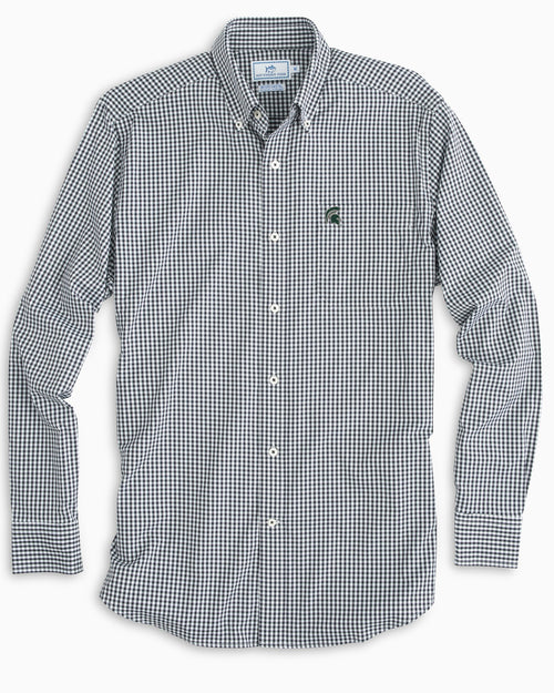 Michigan Spartans Gingham Button Down Shirt | Southern Tide