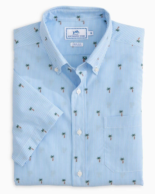 Palm Tree Short Sleeve Button Down Shirt | Southern Tide