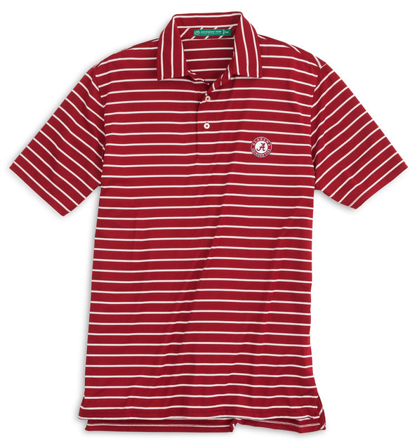 Image of Gameday Driver Stripe Polo - University of Alabama