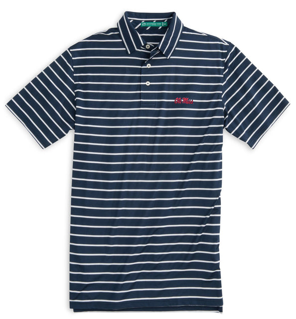 Image of Gameday Driver Stripe Polo - University of Mississippi