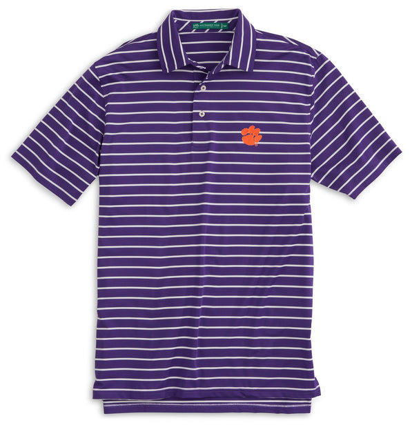 Image of Gameday Driver Stripe Polo - Clemson University