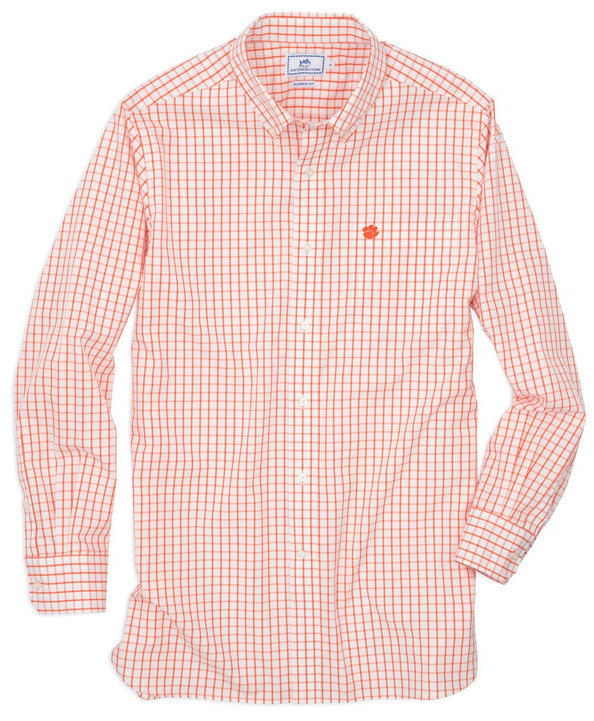 Image of Gameday Tattersall Sport Shirt - Clemson University