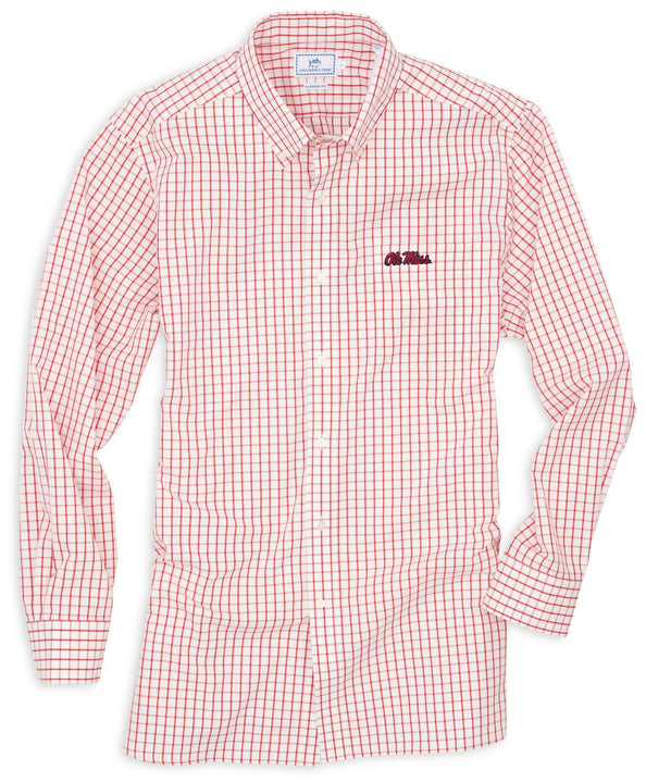 Image of Gameday Tattersall Sport Shirt - University of Mississippi