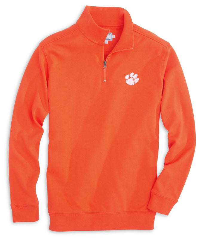 Clemson Tigers Cotton Quarter Zip Pullover | Southern Tide