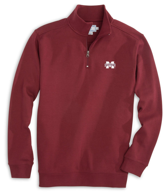 Gameday Skipjack 1/4 Zip Pullover - Mississippi State University | Southern Tide