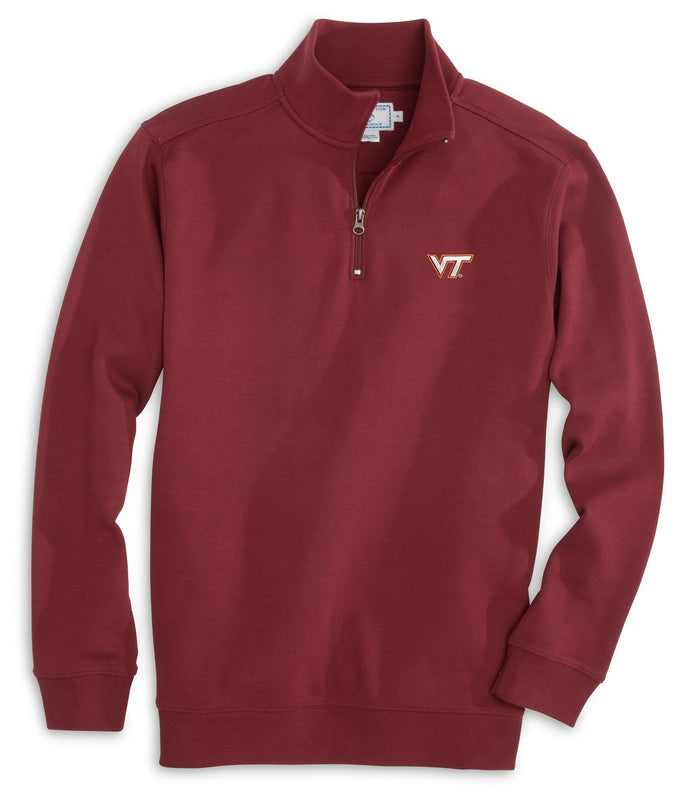 Virginia Tech Hokies Cotton Quarter Zip Pullover | Southern Tide