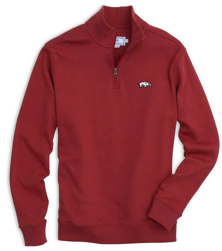 Gameday Skipjack 1/4 Zip Pullover - University of Arkansas | Southern Tide