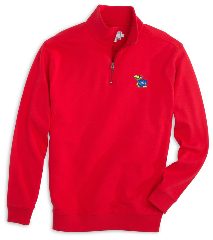 Gameday Skipjack 1/4 Zip Pullover - University of Kansas | Southern Tide