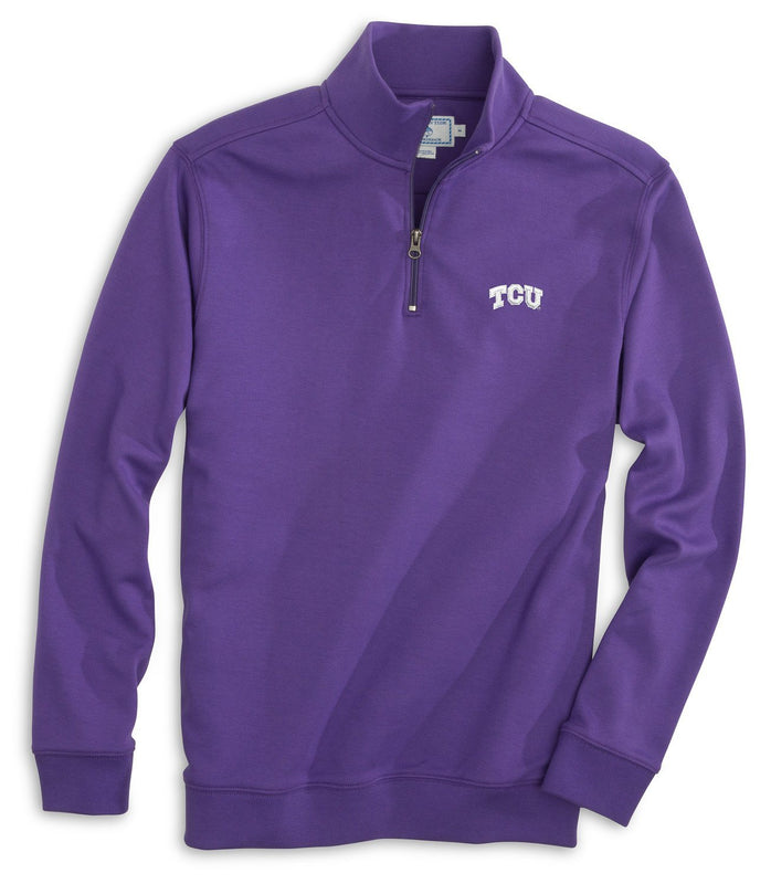 Gameday Skipjack 1/4 Zip Pullover - Texas Christian University | Southern Tide