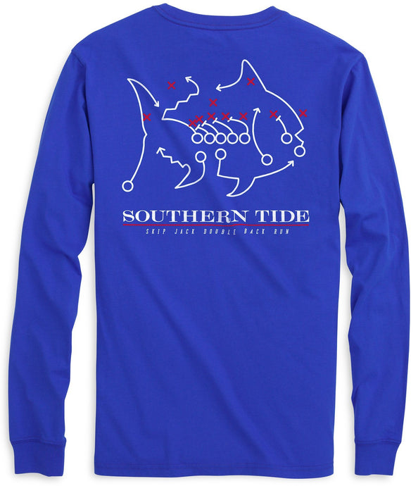 SMU Mustangs Skipjack Long Sleeve T-Shirt