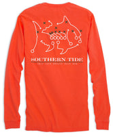 Miami Hurricanes Skipjack Long Sleeve T-Shirt | Southern Tide