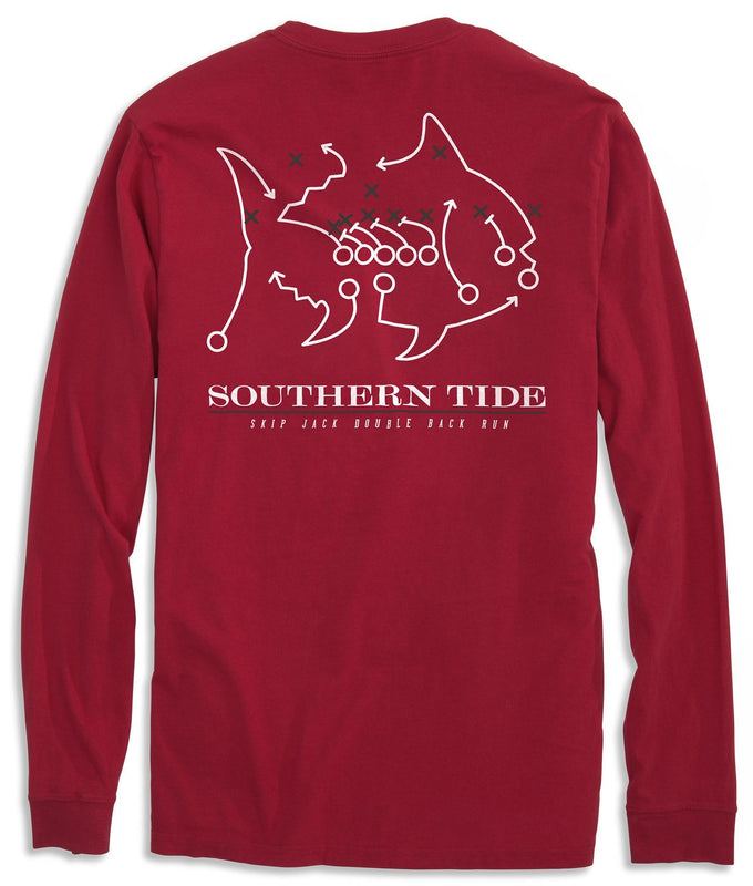 Skipjack Play Long Sleeve T-shirt - University of Arkansas | Southern Tide