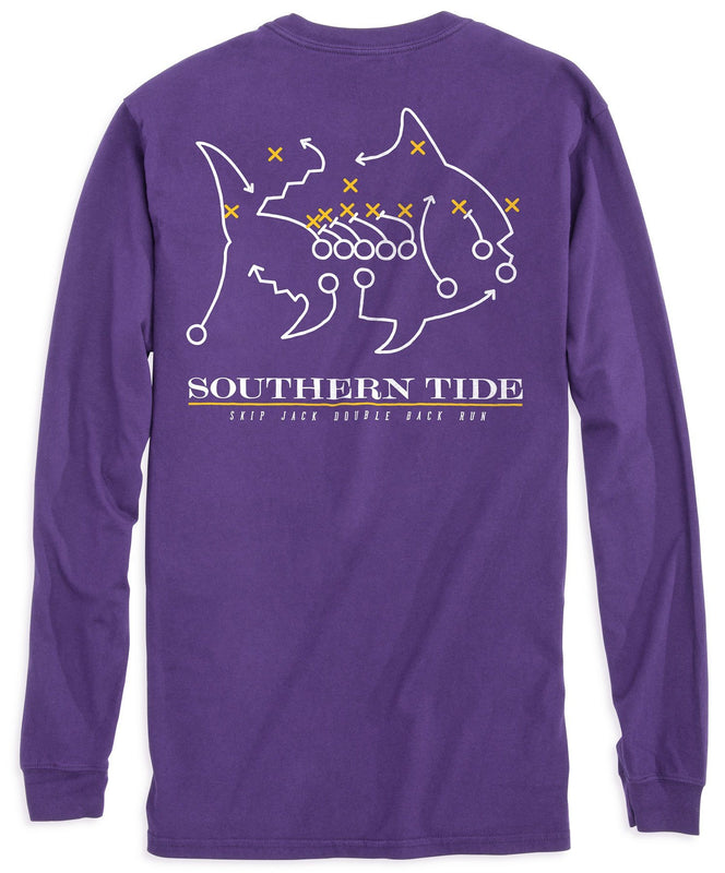 8d17cac7 LSU Tigers Skipjack Long Sleeve T-Shirt | Southern Tide