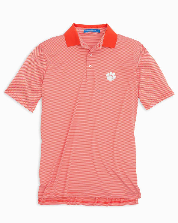 Image of Gameday Feeder Stripe Polo - Clemson University