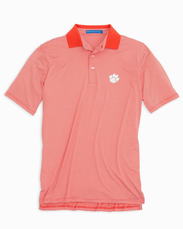 Gameday Feeder Stripe Polo - Clemson University